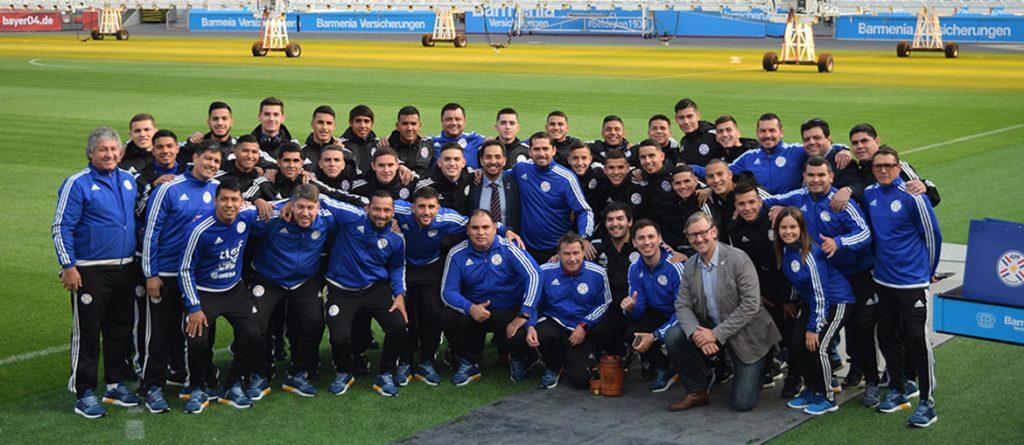 Gira de la delegación Sub 17 de futbol de Paraguay en Alemania.