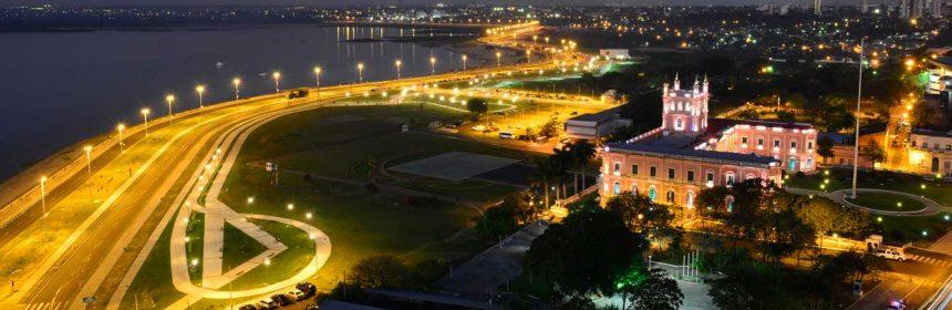 La Costanera de Asunción y el Palacio Presidencial