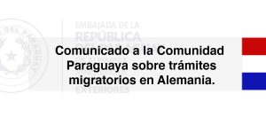 Comunicado sobre trámites migratorios