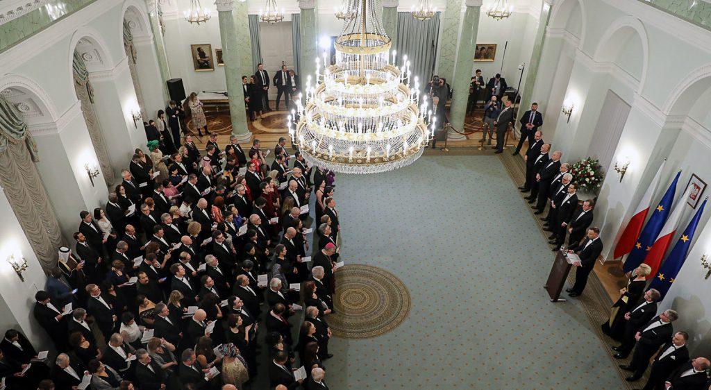 Neujahrsempfang des Präsidenten Polens mit den Leitern der diplomatischen Vertretungen