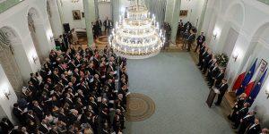 Reunión de Año Nuevo del presidente de Polonia con los Jefes de las Misiones Diplomáticas.